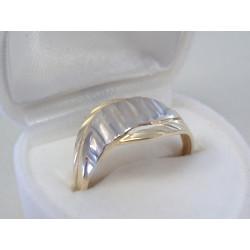 Zlatý dámsky prsteň viacfarebné zlato jemný vzor DP58183V 14 karátov 585/1000 1,83 g