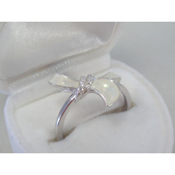 Strieborný dámsky prsteň opál DPS55240 925/1000 2,40g