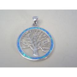 Strieborný dámsky prívesok s opálom strom života VIS396 925/1000 3,96 g
