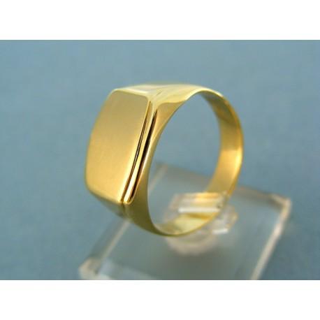 23529c667b0 Pánsky zlatý prsteň žlté zlato čisté tvary