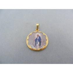 Zlatý prívesok sv. obrázok žlté zlato Mária VI295Z